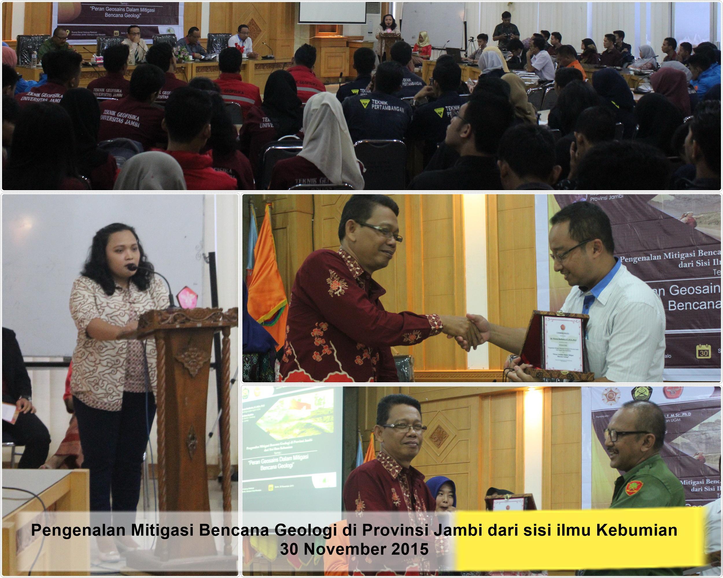 Seminar Mitigasi Bencana Fakultas Sains dan Teknologi Universitas Jambi