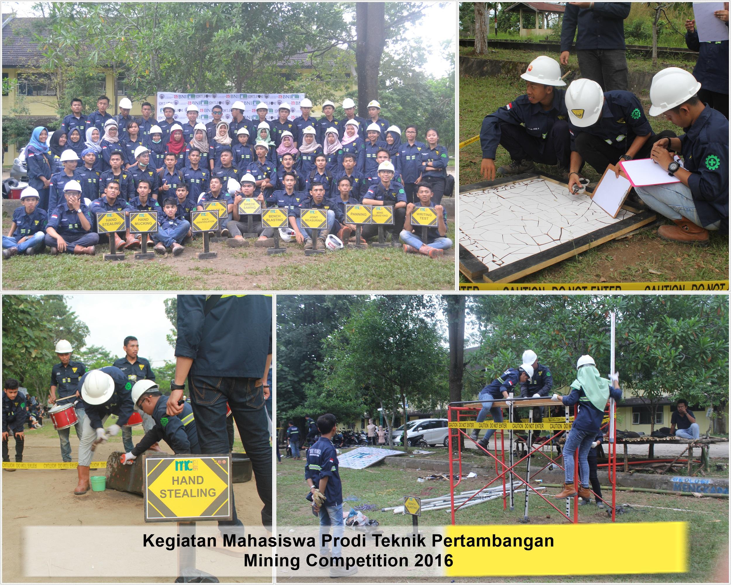 Mining Competition 2015 Oleh Teknik Pertambangan Universitas Jambi