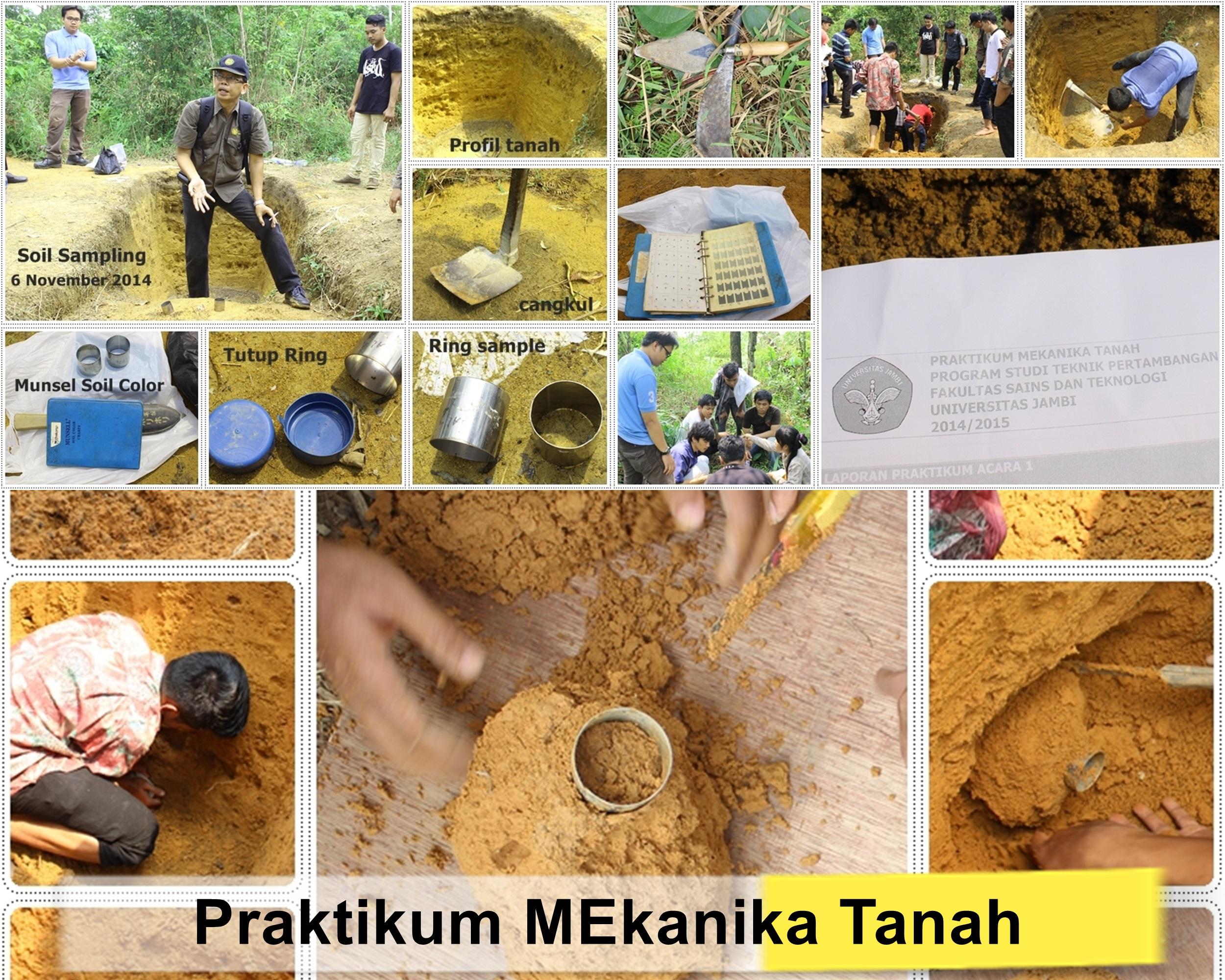 Praktikum Mekanika Tanah Teknik Pertambangan Universitas Jambi