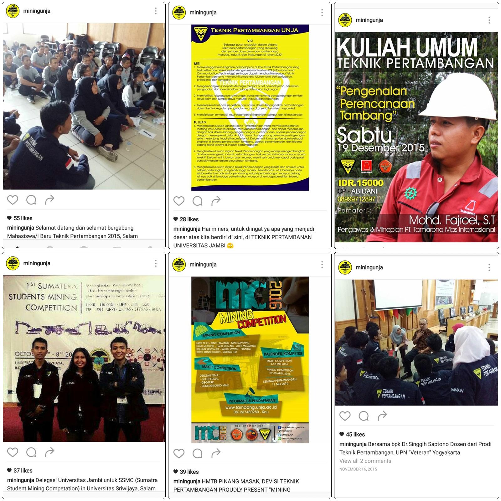 Mahasiswa Teknik Pertambangan di Berbagai Acara